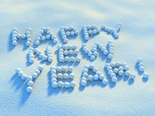 Happy New Year snowballs