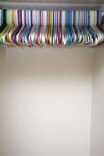 Hangers in empty closet