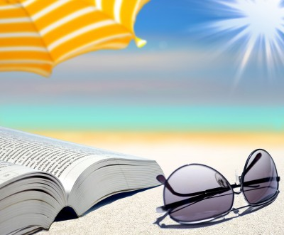 Beach book sunglasses sunshine