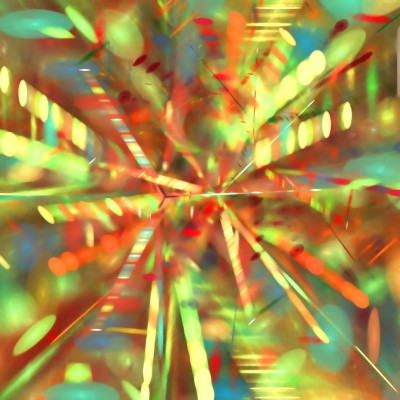 Abstract sparkles red yellow green