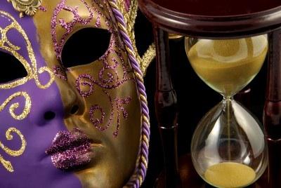 Venetian Mask with Hourglass