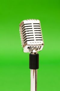 """Microphone for the """"Here We Are"""" radio shows"""