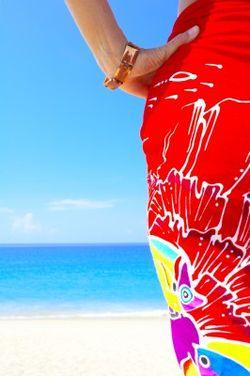 Sarong on beach