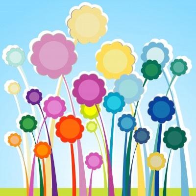 Multicolored Flower artwork
