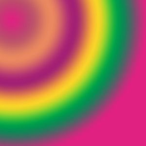 Rainbow abstract pink green yellow