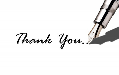 Thank you with fountain pen