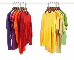 Tee shirts on hangers