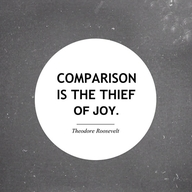 Comparison is the Thief of Joy quote box, Theodore Roosevelt