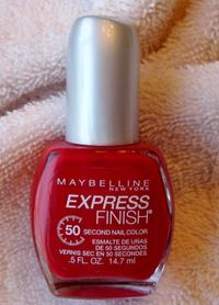 Maybelline Express Finish Nail Polish in Racey Red