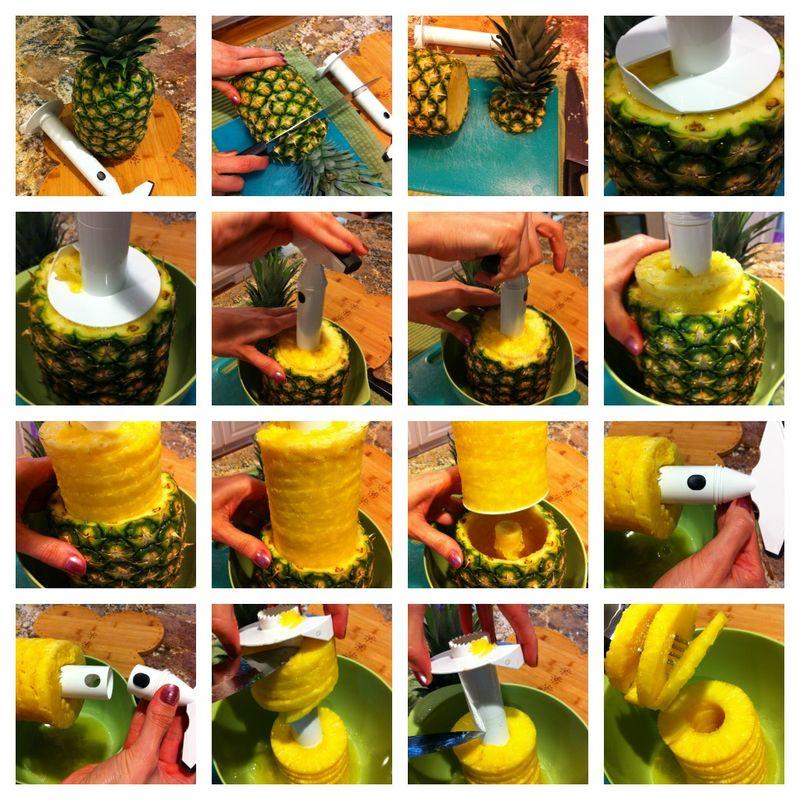 Pineapple Corer, Peeler, Slicer How-to demonstration