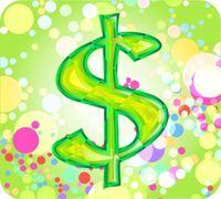 Dollar sign w bubbles