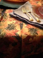Folded fabric down center of table