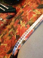 Salvage edge of fabric on ironing board