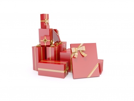 Wrapped giftboxes