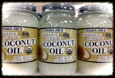 Coconut Oil Jars from Trader Joe's