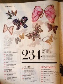 Butterfly Ring Collection in InStyle Magazine July 2014