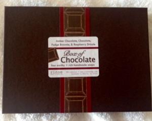 Box of chocolate soap