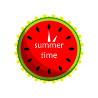 Watermelon clock vector