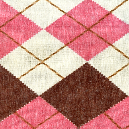Pink and cream argyle sweater pattern