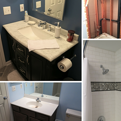 Bathroom Renovation pics before and after