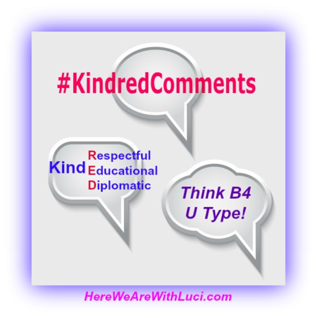 #KindredComments, bit.ly/1t2Fkn4 www.HereWeAreWithLuci.com