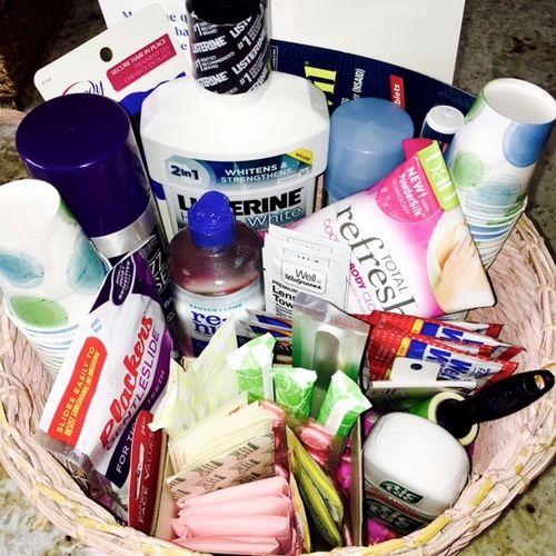 Wedding basket for ladies room