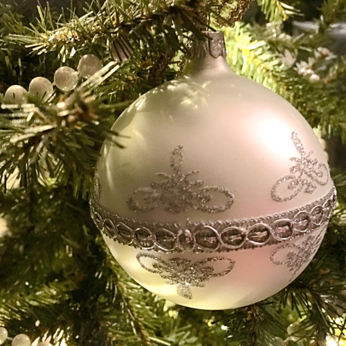Christmas Ball on tree