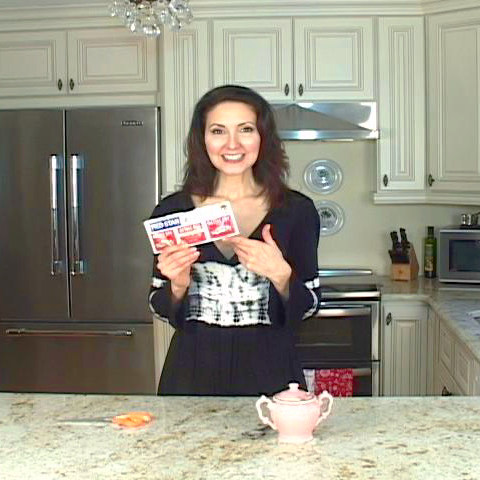 Luci Weston in kitchen for One By One Video