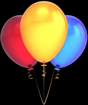 Red, yellow, blue balloons