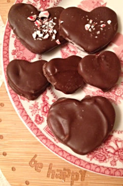 Chocolate Covered Heart Shaped Peppermint Patties