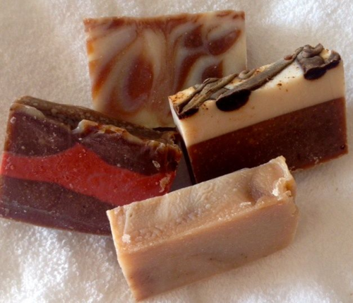 Chocolate Soap bars from UncommonGoods