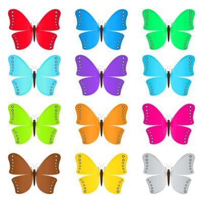 Dozen butterflies