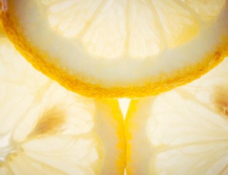 Closeup of lemon slices