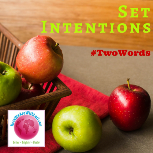 Set Intentions, Two Words, apples in a basket