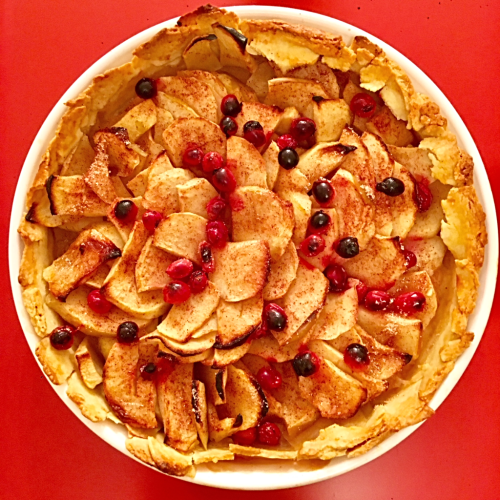 Apple Tart after baking