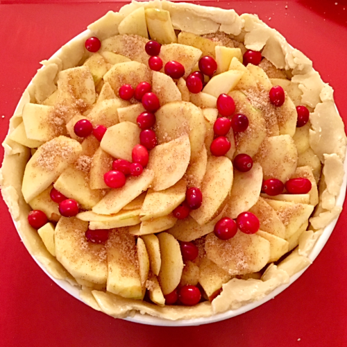 Apple Tart before baking