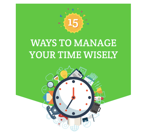 15 ways to manage your time wisely cover picture