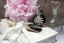Pocket watch book and bottle