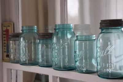 Mason Jars on Window Sill
